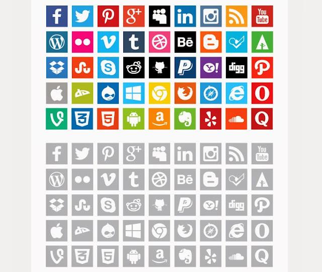 Ressources Web du Lundi #006 by Iscomigoo Webdesign: Flat Social Media Icons
