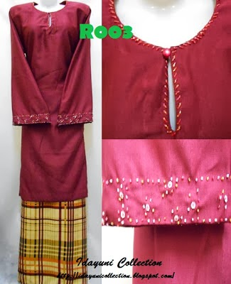 Maroon with Beads