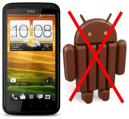 Htc ha confermato tramite la sede olandese che One X+ non avrà l'aggiornamento ad Android 4.4 KitKat