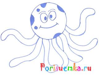 рисунок осьминог