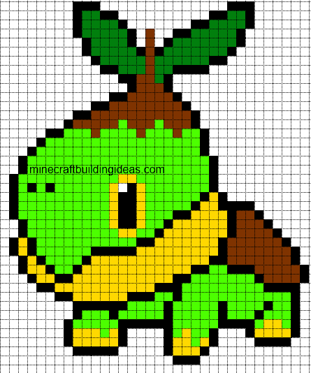 Minecraft Pixel Art Templates Turtwig – Minecraft Pixel Art Template