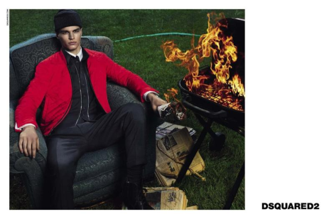 Arran Sly for Dsquared2 FW14 Campaign