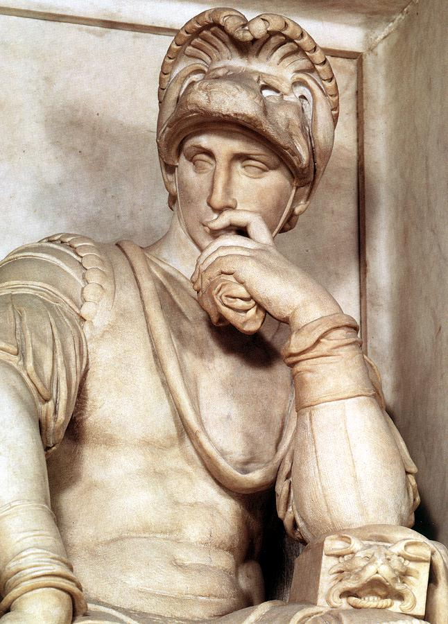 Disegniamo - Pagina 5 Michelangelo_Tomb_of_Lorenzo_de-_Medici_detail_Lorenzo_de-_