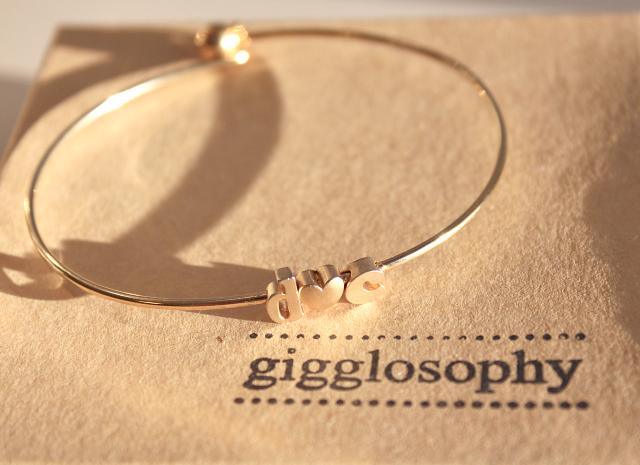 gigglosophy love initials bracelet