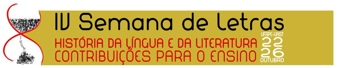 IV Semana de Letras UFRPE/UAST