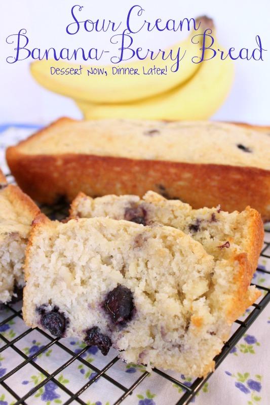 Dessert Now, Dinner Later!: Sour Cream Banana-Berry Bread
