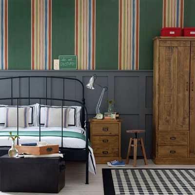 Decoraci n y afinidades paredes pintadas con figuras - Habitaciones con papel pintado y pintura ...