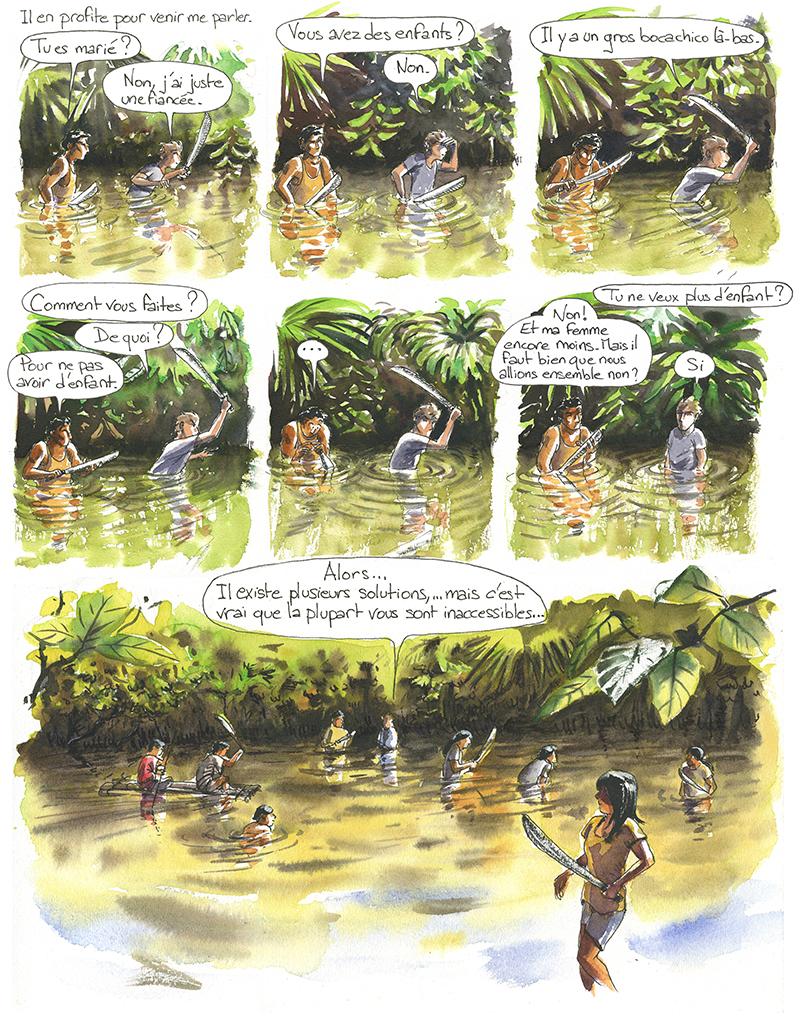 pêche à la nivrée (Barbasco) avec des Achuar