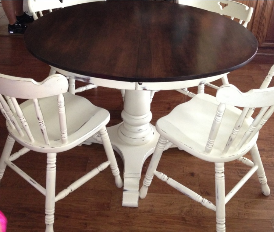 Table And Chairs In Old White Chalk Paint FAUX Get Me Nots Victoria TX