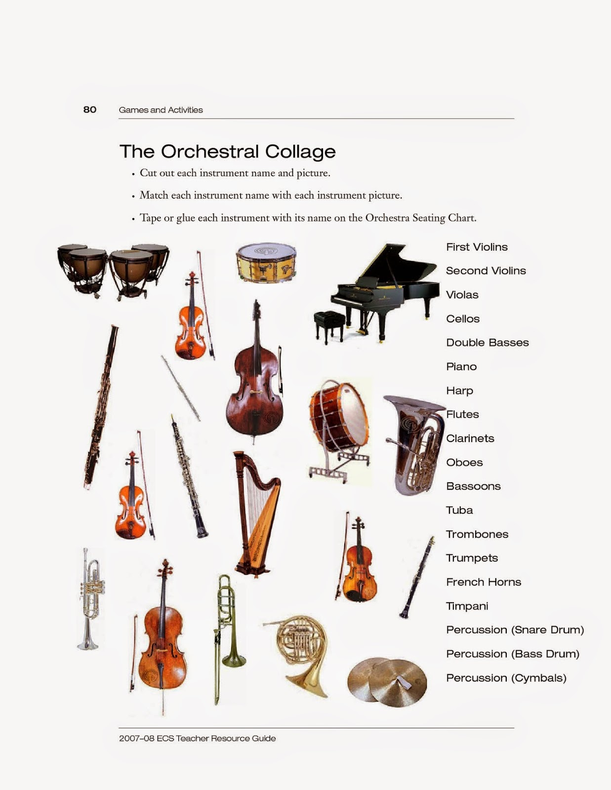 Aerophones Worksheet Images Reverse Search – Instruments of the Orchestra Worksheets
