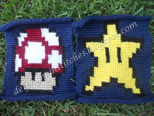 Crochet Pattern For Mario Blanket : Delphyne in Stitches: New Start Super Mario Blanket