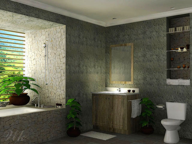 Modern Natural Bathroom Designs : Minimalist bathroom design home interior