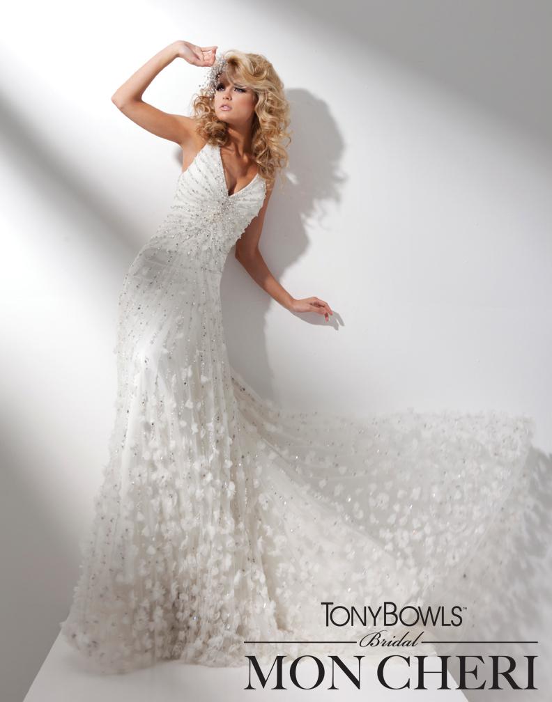 Glamorously Detailed Bridal Style By Tony Bowls