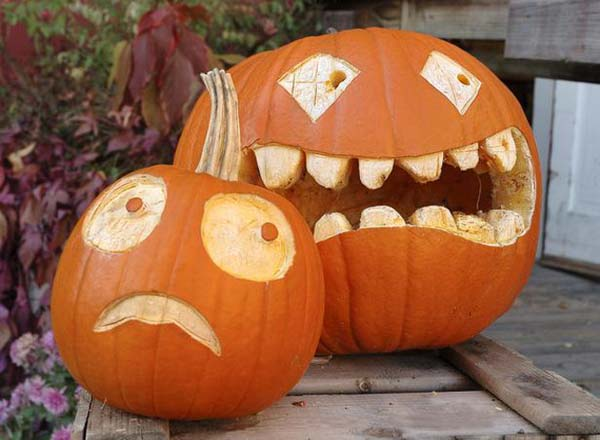 Funny pumpkin carving ideas and patterns for halloween