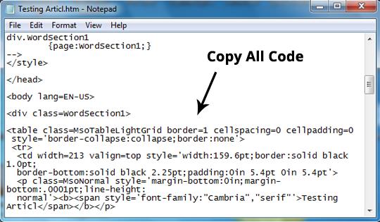 Cara mudah membuat tabel di blogger menggunakan microsoft for Html program for table