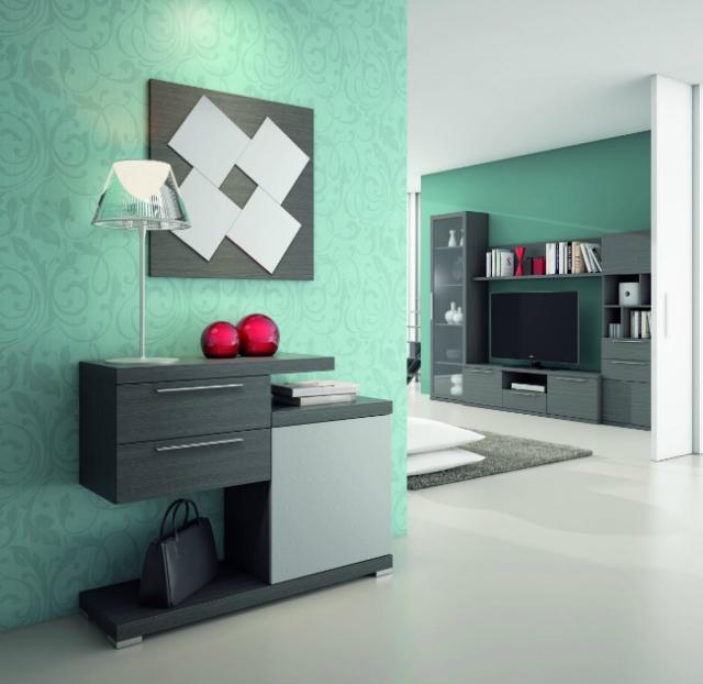Algunas fotos de recibidores modernos decorando - Muebles hall modernos ...