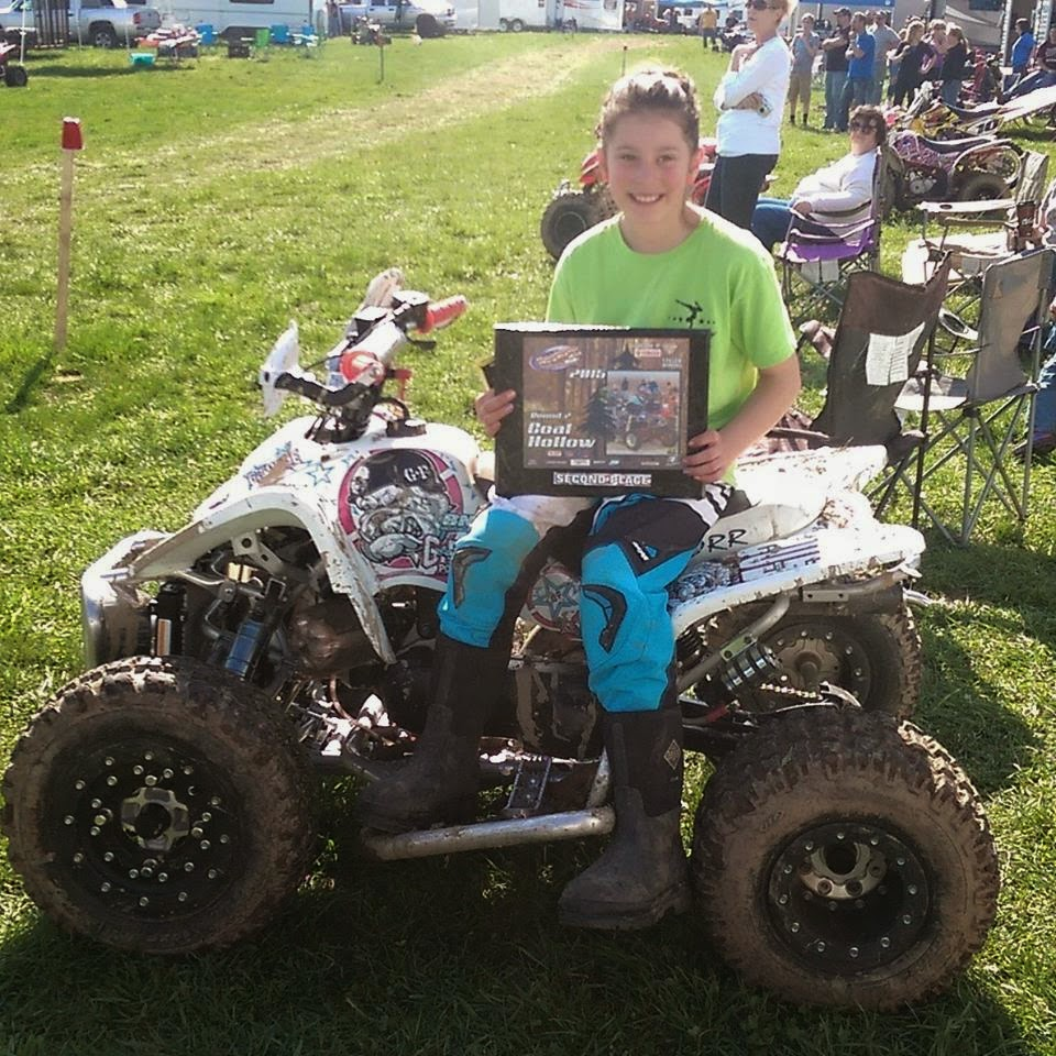 Andrea placed 2nd today on her DRR in the 90 stock class at the AWRCS race at Coal Hollow! #DRR#drrracing