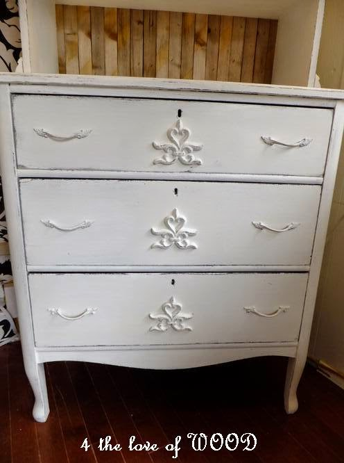 wood furniture appliques. Old Plastic Garden Fence Makes For Great Appliques On Painted Wood Furniture