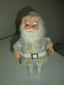 Silver Glitter Santa