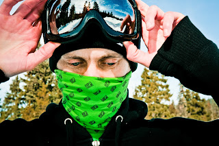 his snowboard mask