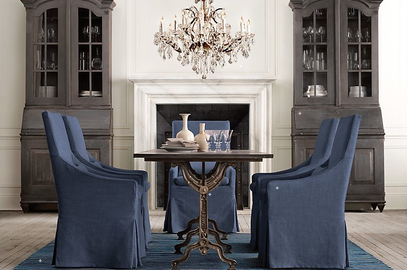 Indigo is in driven by decor for Restoration hardware dining room ideas