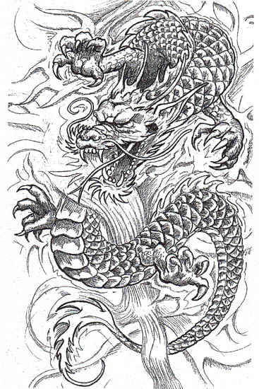 Dragon Tattoo Stencils