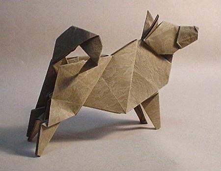 origami dog heavy rain