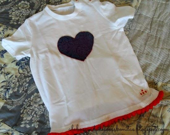 Camiseta para niña decorada