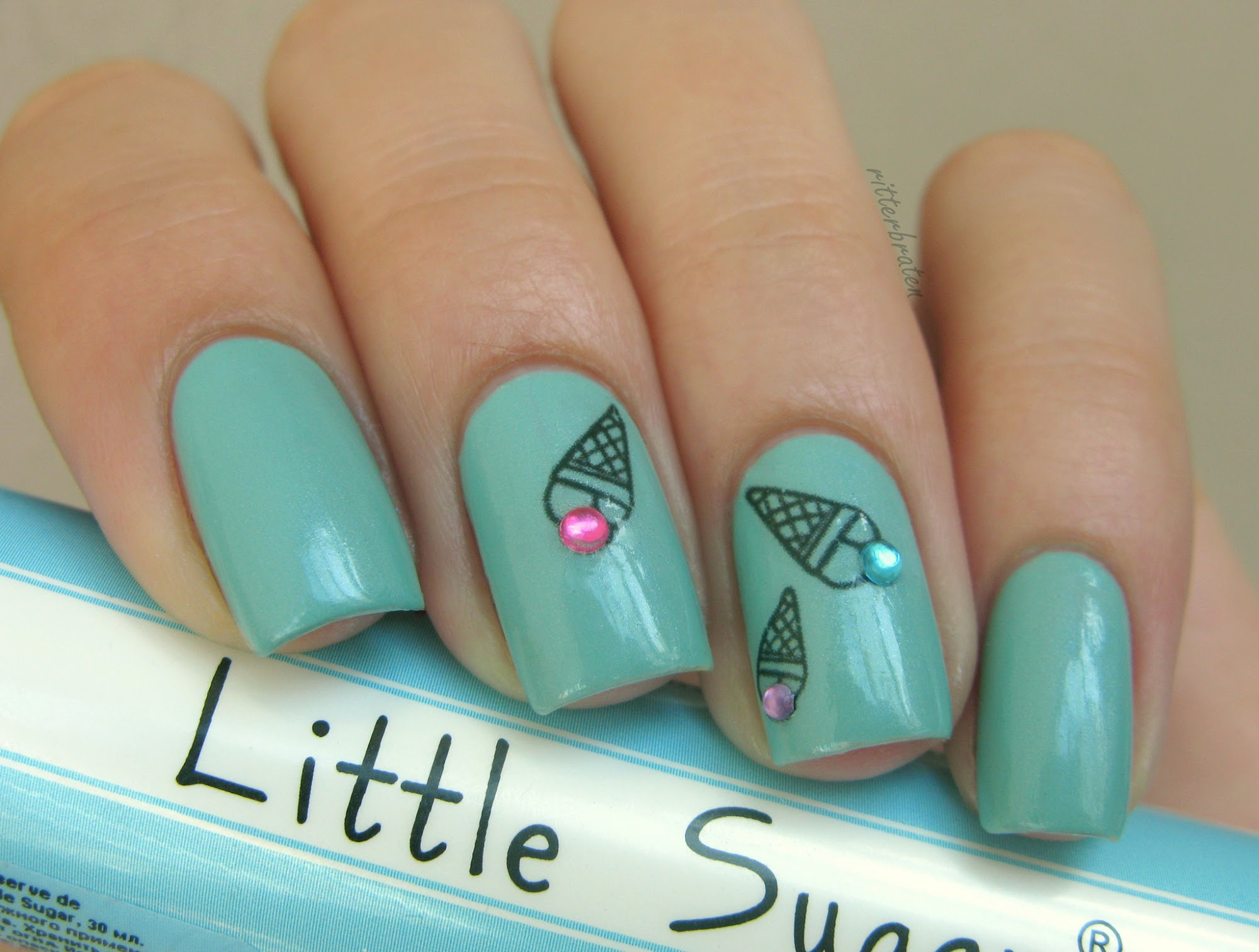 ice cream nail decals stickers