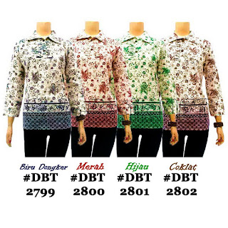 DBT2799-2802 - Baju Bluse Batik Wanita Terbaru 2013