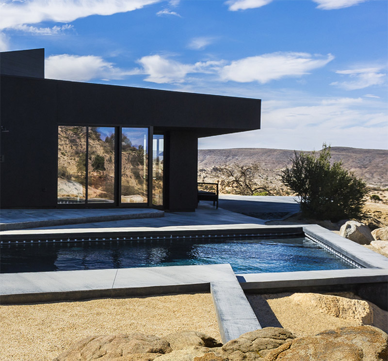 A Modern Oasis In the Middle Of Yucca Valley: The Black Desert House Is Stylish Inside and Out.