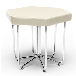 OFM Hex Stool in Linen