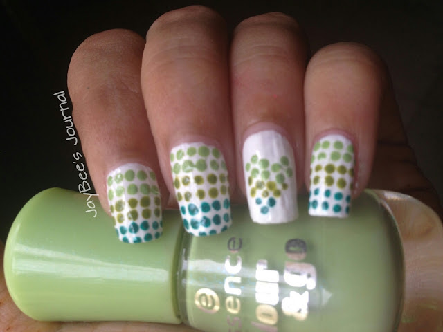 green nail art outfit 14th august