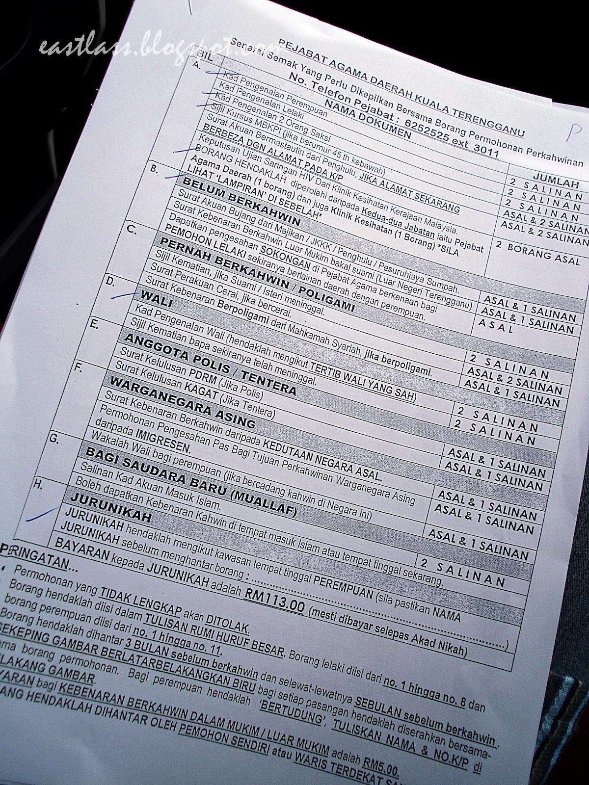 Daftar Kursus Kahwin Terengganu