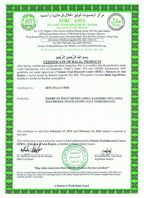 sijil halal barbican