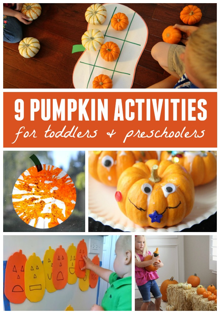 This is a picture of Canny Pumpkin Crafts for Toddlers