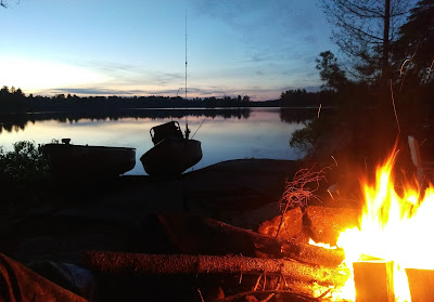 Campfire with a view of the lake
