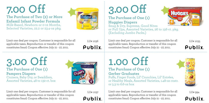 great printable baby coupons for publix shoppers