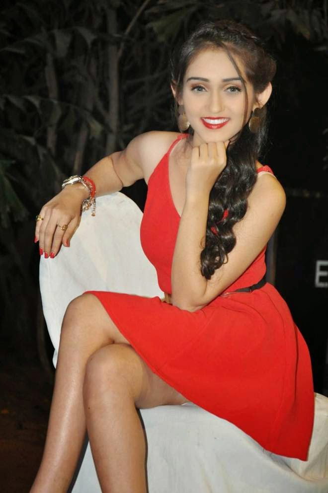 Tanya Sharma Hot Sleeveless Short Mini Dress Photos