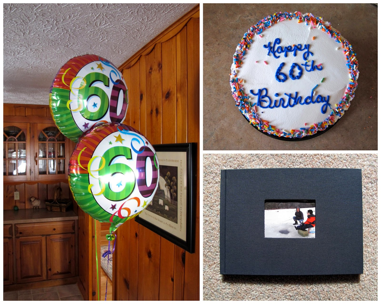 Parker's Balloons, Cake, and Memory Book