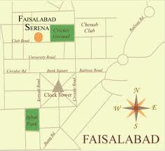 Serena Hotel Faisalabad Contact Number and Address Location