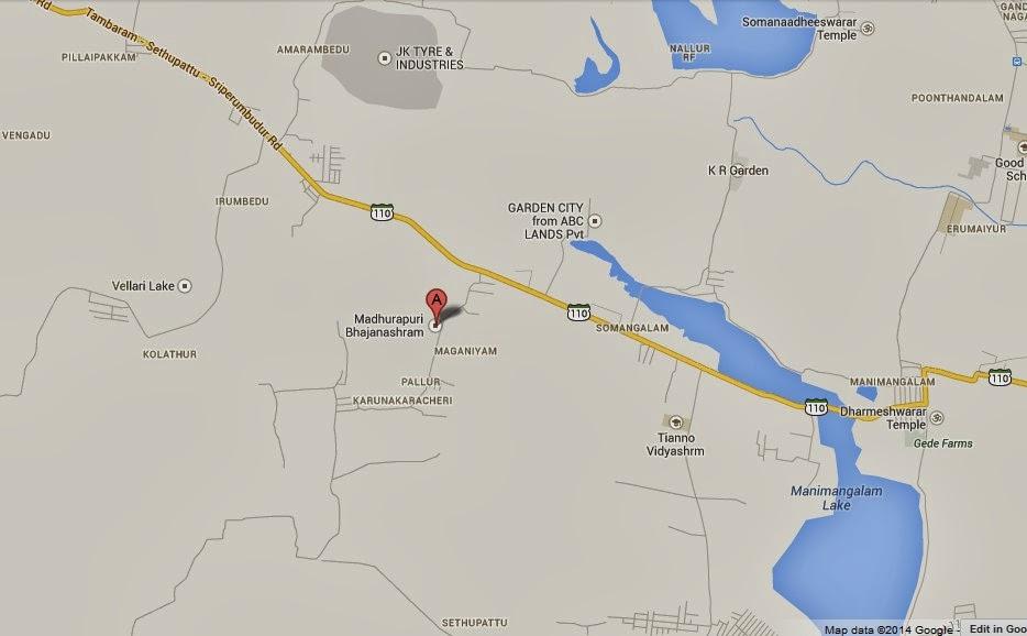 Map of Madhurapuri Ashram