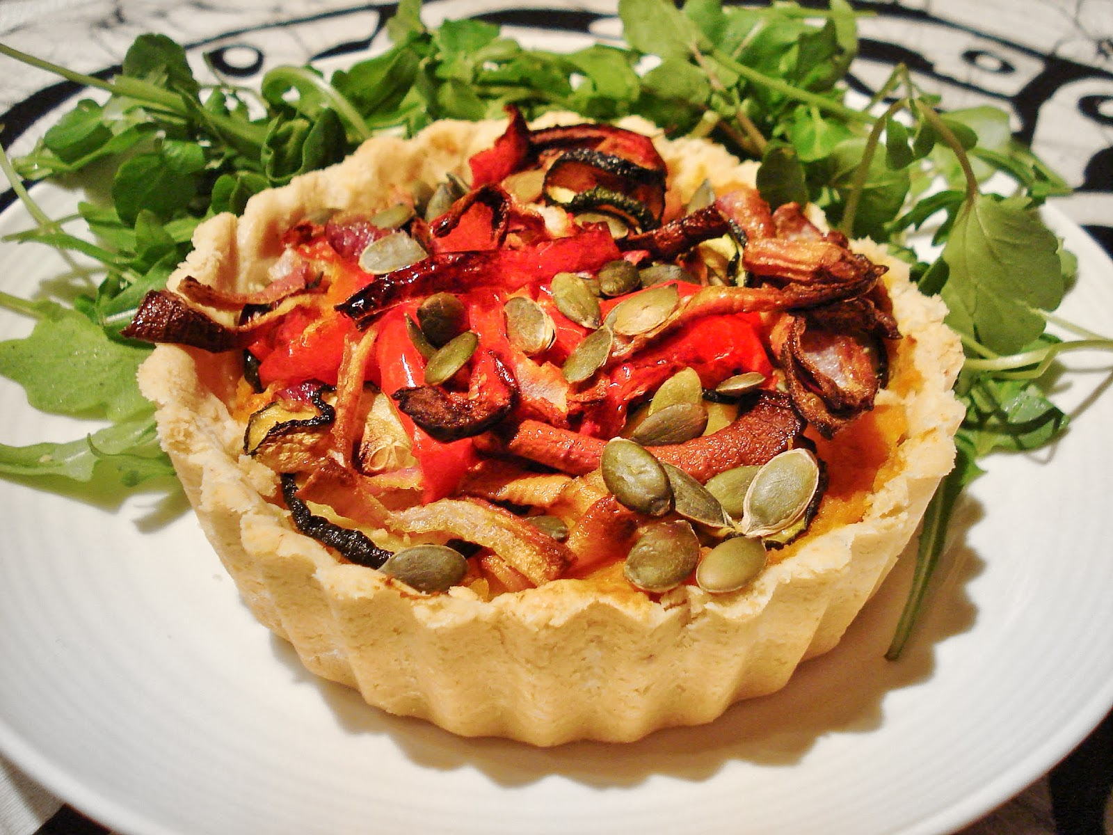 Gluten Free SCD and Veggie: Roasted Vegetable Tart GF SCD