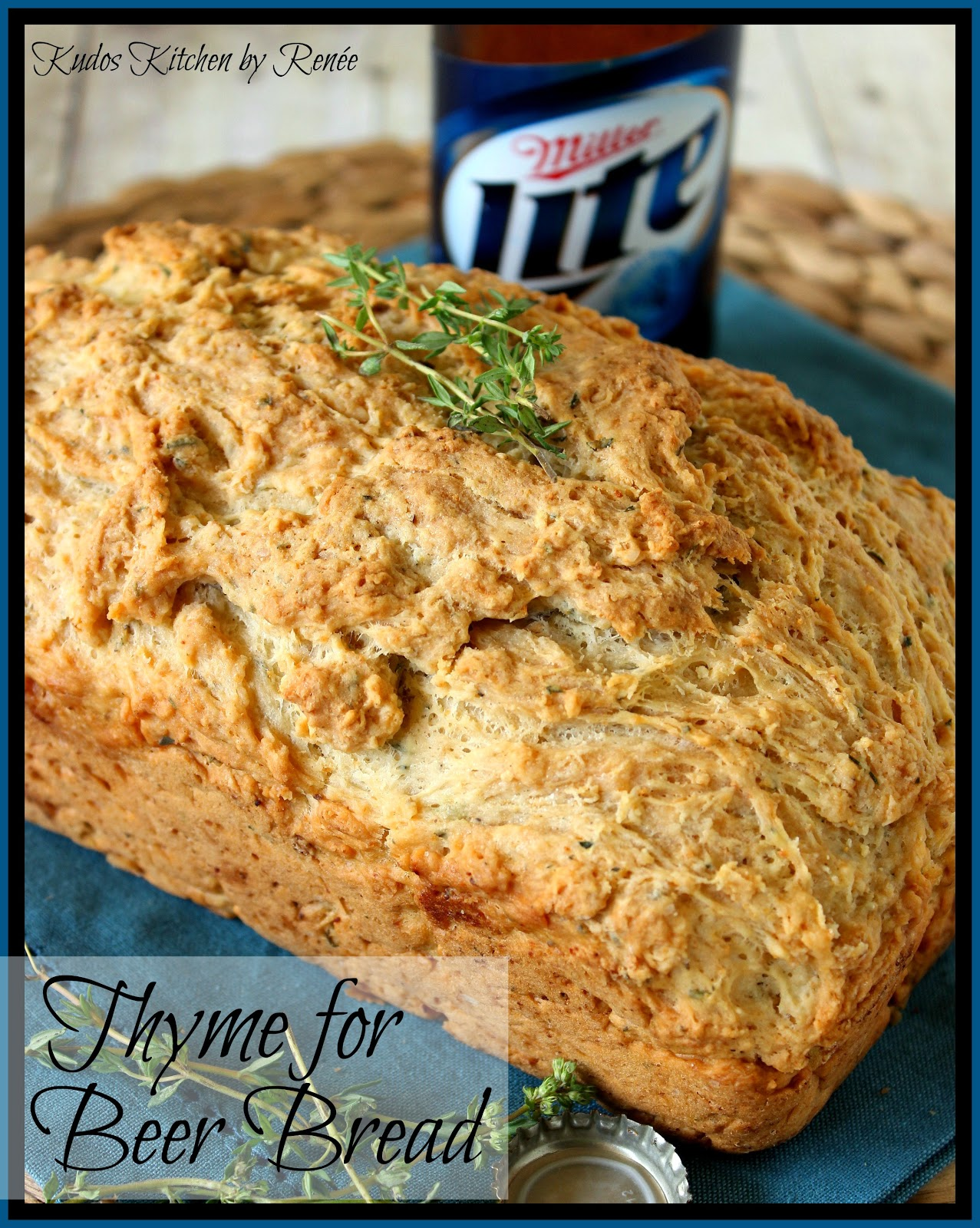 Thyme for Beer Bread Recipe via kudoskitchenbyrenee.com