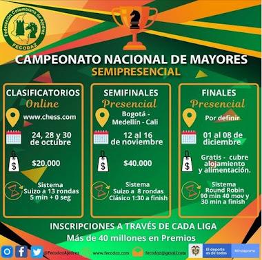 CAMPEONATO NACIONAL AJEDREZ MAYORES SEMIPRESENCIAL 2020 (Dar clic a la imagen)