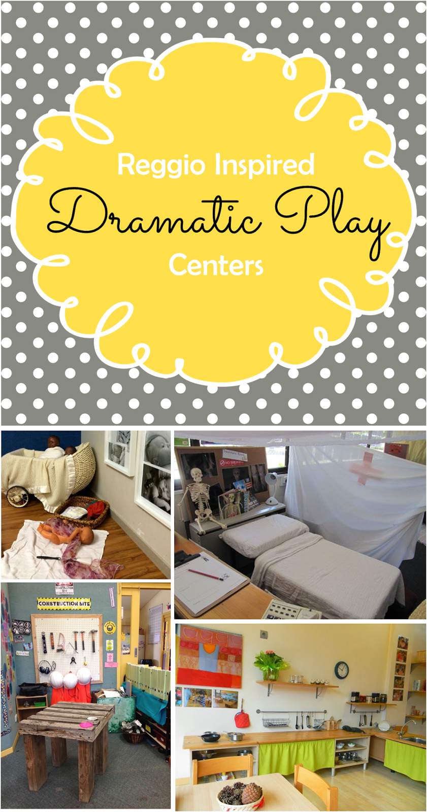 Preschool ponderings reggio inspired dramatic play centers for Waste material activity
