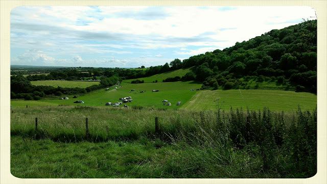 Cream Tea Queen Britchcombe Farm view