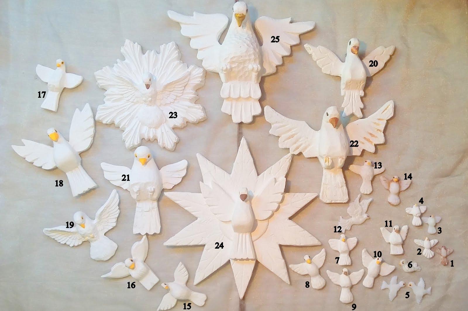 Modelos, tamanhos e preços das Pombinhas