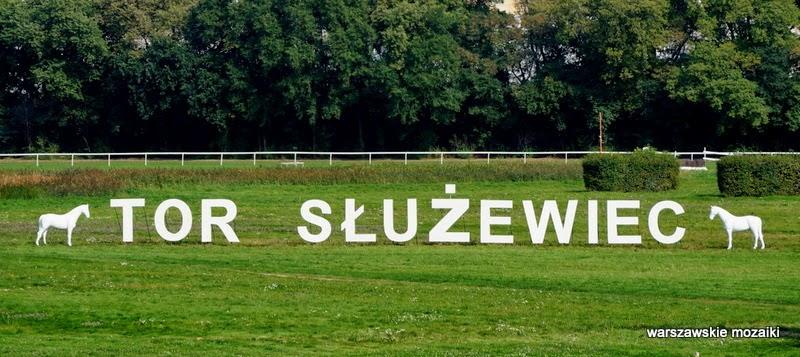 Ursynów Warszawa gonitwa wyścigi konne zakłady konie trybuna zabytek