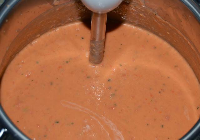 triturar gazpacho